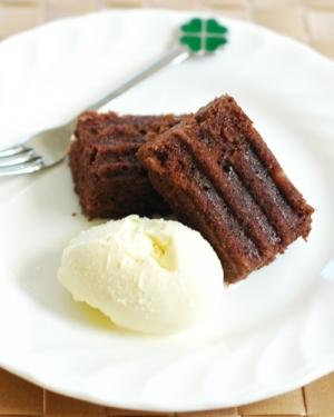 チョコバナナケーキ シリコンロースターで