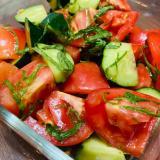 きゅうりとトマトの和風マリネサラダ♡