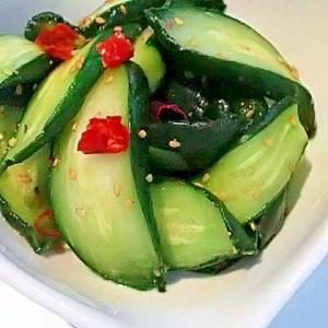 ☀干し野菜で作る、きゅうりのぽりぽりポンズ☀