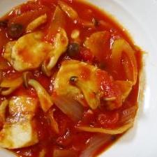 たっぷりのソースで!めかじきのトマト煮
