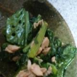 小松菜とシーチキンの炒め物