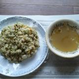 葱油とニンニクの野沢菜チャーハン