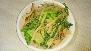 大根・小松菜・ちくわのごま風味甘酢炒め