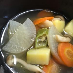 オクラ入りトロトロコンソメスープ