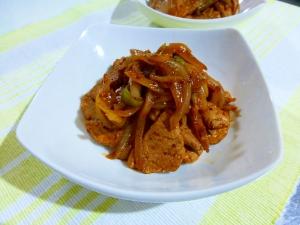 豚ヒレ肉のバルサミコ炒め