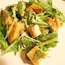 ヘルシー和風マヨサラダ♪ 薩摩芋&水菜