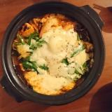 熱々!キムチチーズ鍋
