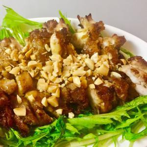 ★今日の定食-「鶏肉ガーリックカレー揚げ」