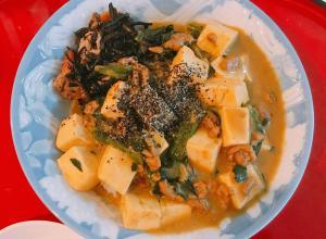 鉄分補給の豆腐&ひき肉カレー