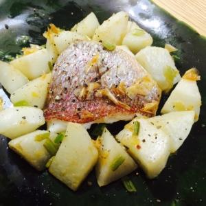 【ガサツ料理】爽やかレモン香る鯛とかぶのソテー