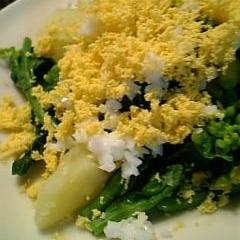 菜の花と新じゃがのミモザサラダ♪