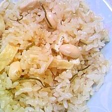 大豆のやさしい味の炊き込みご飯