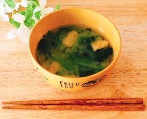 ほうれん草の味噌汁✧˖°
