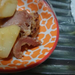 ベーコンポテトチーズ炒め