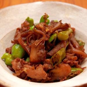 簡単!豚肉と舞茸、ししとうの佃煮風