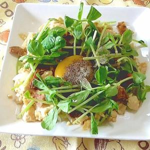【天気の子で話題】豆腐で陽菜のおもてなしチャーハン