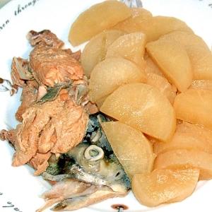 冬にぴったり!鮭のアラと大根の煮物