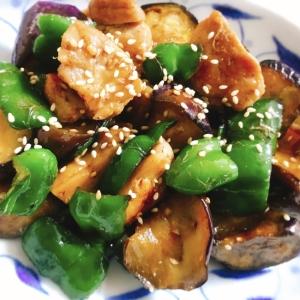 【夫婦のおつまみ】ナスとピーマンと鶏肉の中華風炒め