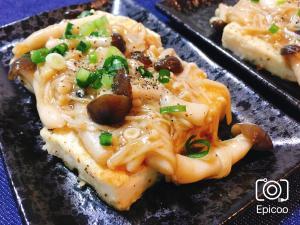 豆腐ステーキ簡単和風きのこソース添え
