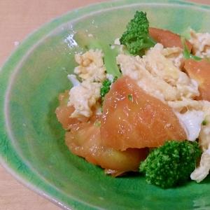 ブロッコリーとトマトと卵のオイスターソース炒め