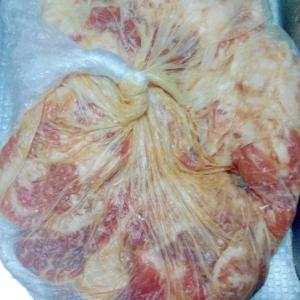 便利★豚薄切り肉の味付け冷凍保存★味噌生姜風味★