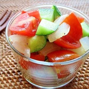 夏野菜のコロコロサラダ