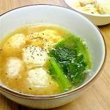 ふんわり玉子で☆ふんわり鶏団子スープ