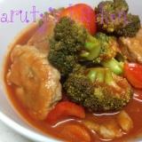 豚ヒレ肉のトマトジュース煮