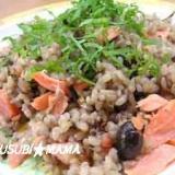 黒豆幻米でシャケチャ-ハン