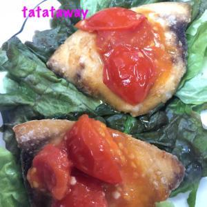 カジキのソテー〜ミニトマトソース添え