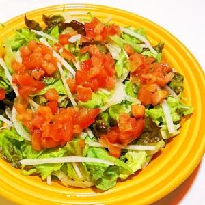 トマトドレッシングの野菜サラダ