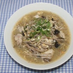 ドライベジタブル麺☆乾燥れんこん麺で鶏肉卵スープ