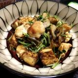 【糖質オフ】厚揚げのボリュームヘルシー鶏ガラ炒め☆