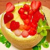 丸ごと☆メロンケーキ