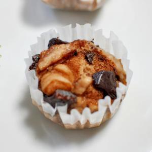 板チョコ&ココア&牛乳de米粉蒸しパン