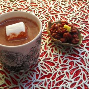 茹であずき入り生姜豆乳ココアドリンク♪