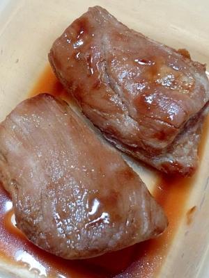 レンジで簡単☆食欲そそるニンニク煮豚