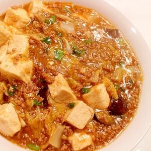 白菜の芯も美味しく調理♪野菜入り麻婆豆腐