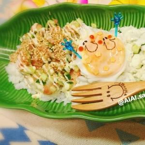 【皿de丼】きゅうりとガリのさっぱり丼