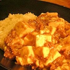 我が家の麻婆豆腐でマーボ丼