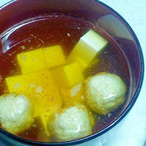 レンジで簡単♪豆腐と肉団子の和風スープ