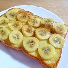 朝からしっかり栄養★バナナトースト