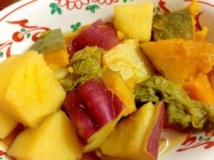 かぼちゃ薩摩芋レンコンはくさい菜の煮物