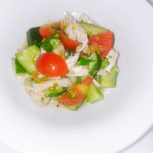しっとり柔らかいササミと野菜のマリネ
