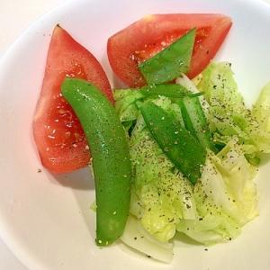 簡単ひとしなです☆チンキャベツとトマトで作るサラダ