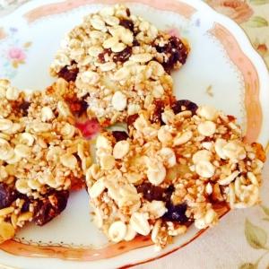 卵*油*砂糖不使用♪押麦とバナナのクッキー
