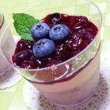 ブルーベリーのカップデザート