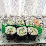 キューリ と 梅 の巻き寿司
