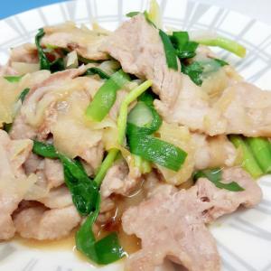 豚肉とニラの味噌炒め