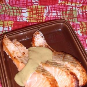 鮭のグリル/マヨわさソース